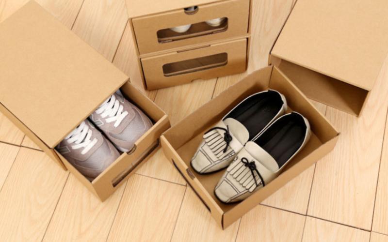 多功能牛皮纸鞋盒-牛皮纸案例